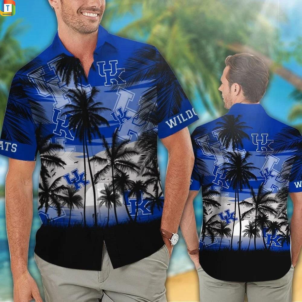 Kentucky wildcats tropical hawaiian shirt 1
