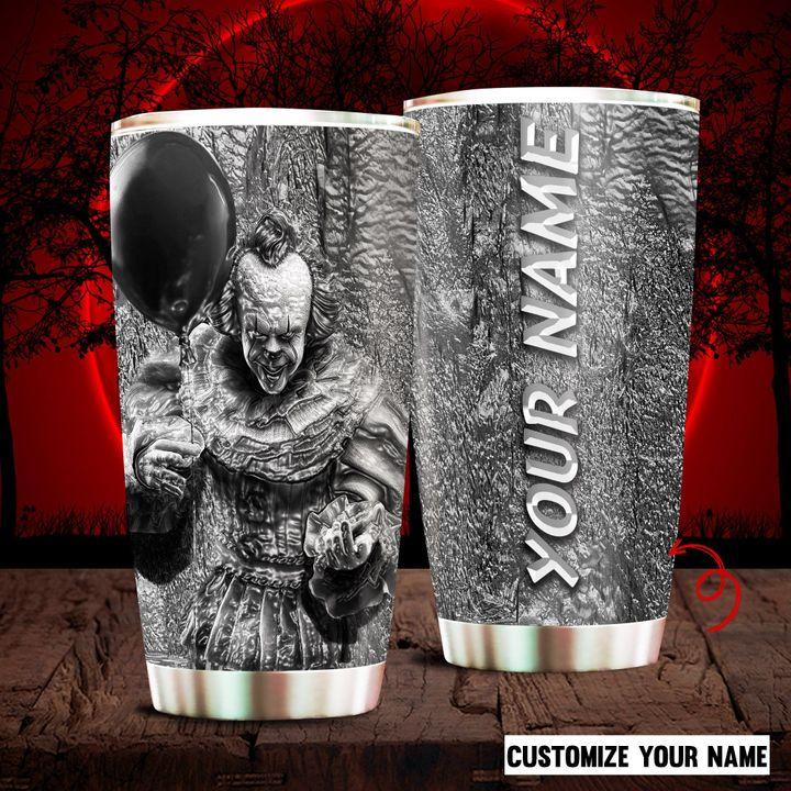 IT Clown Halloween Custom Name Tumbler