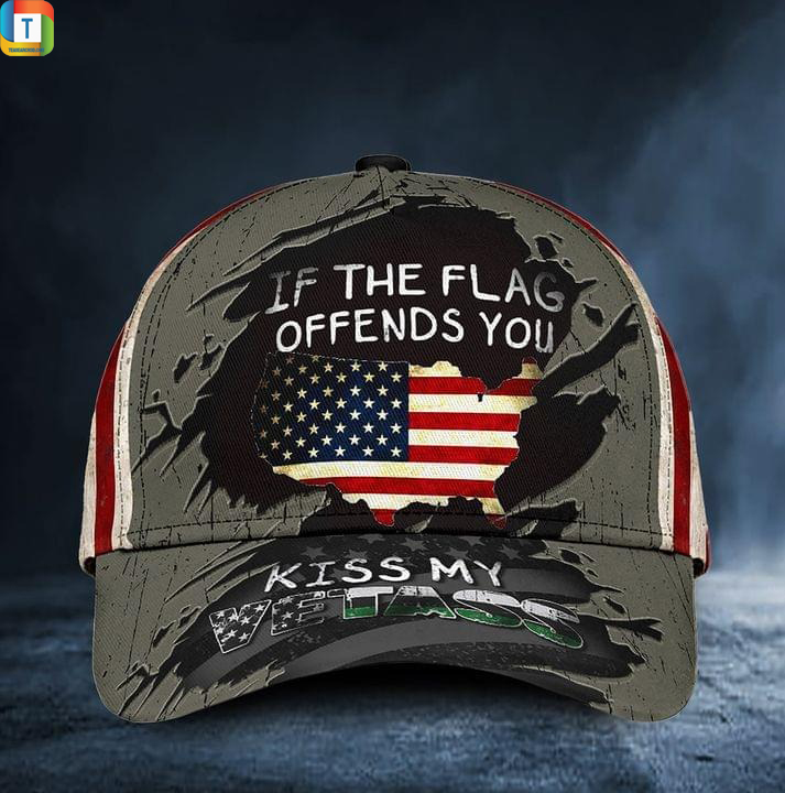 If the flag offends you kiss my vetass american flag hat cat