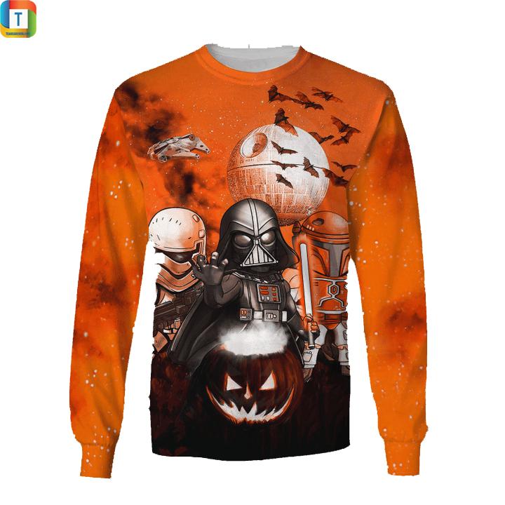 Star wars darth vader boba fett stormtrooper halloween night sweatshirt