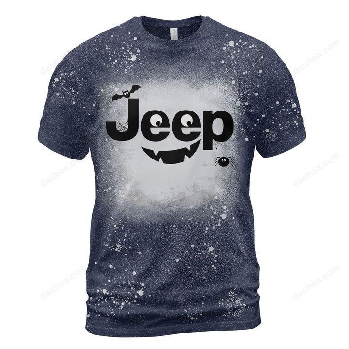 Jeep halloween bleached t-shirt 3