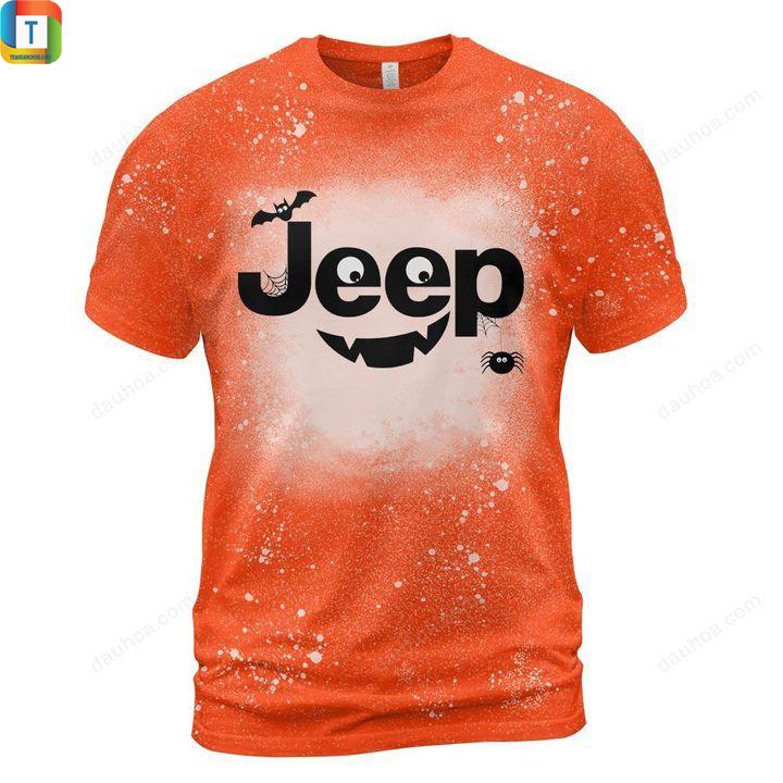 Jeep halloween bleached t-shirt