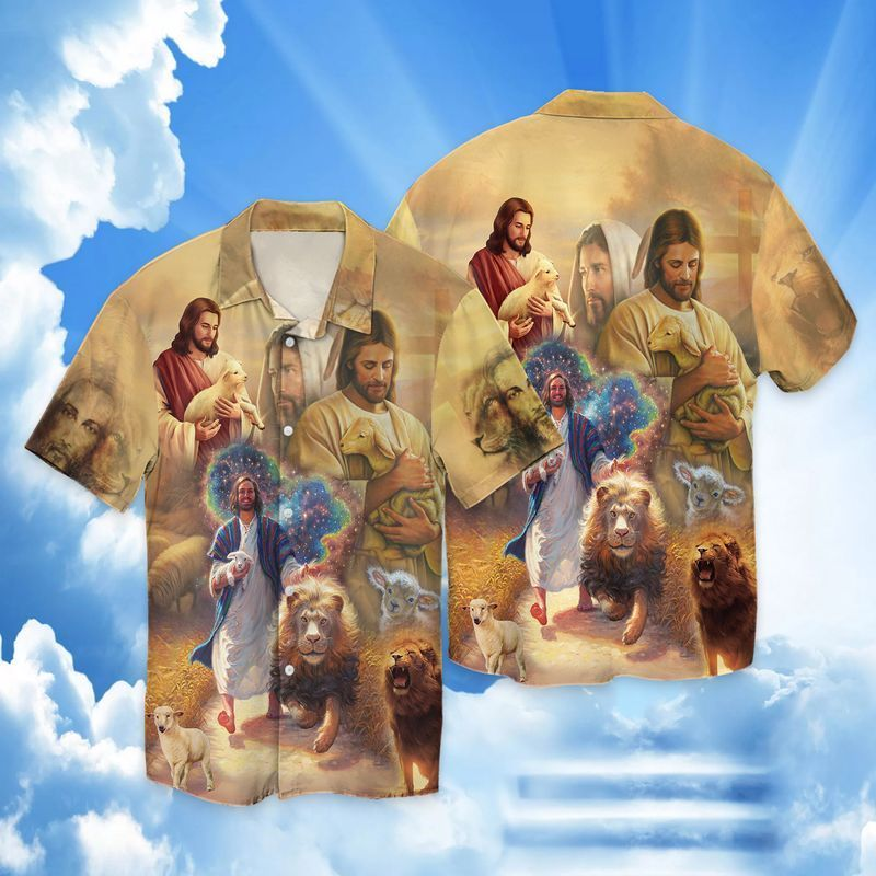 Jesus Lamb And Lion 3D All Over Print Shirt