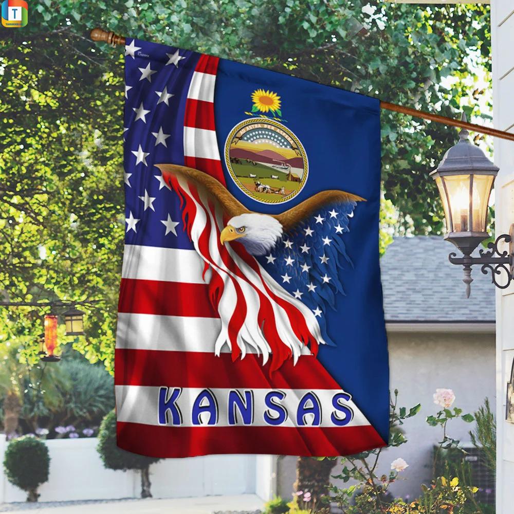 Kansas Eagle Flag 1