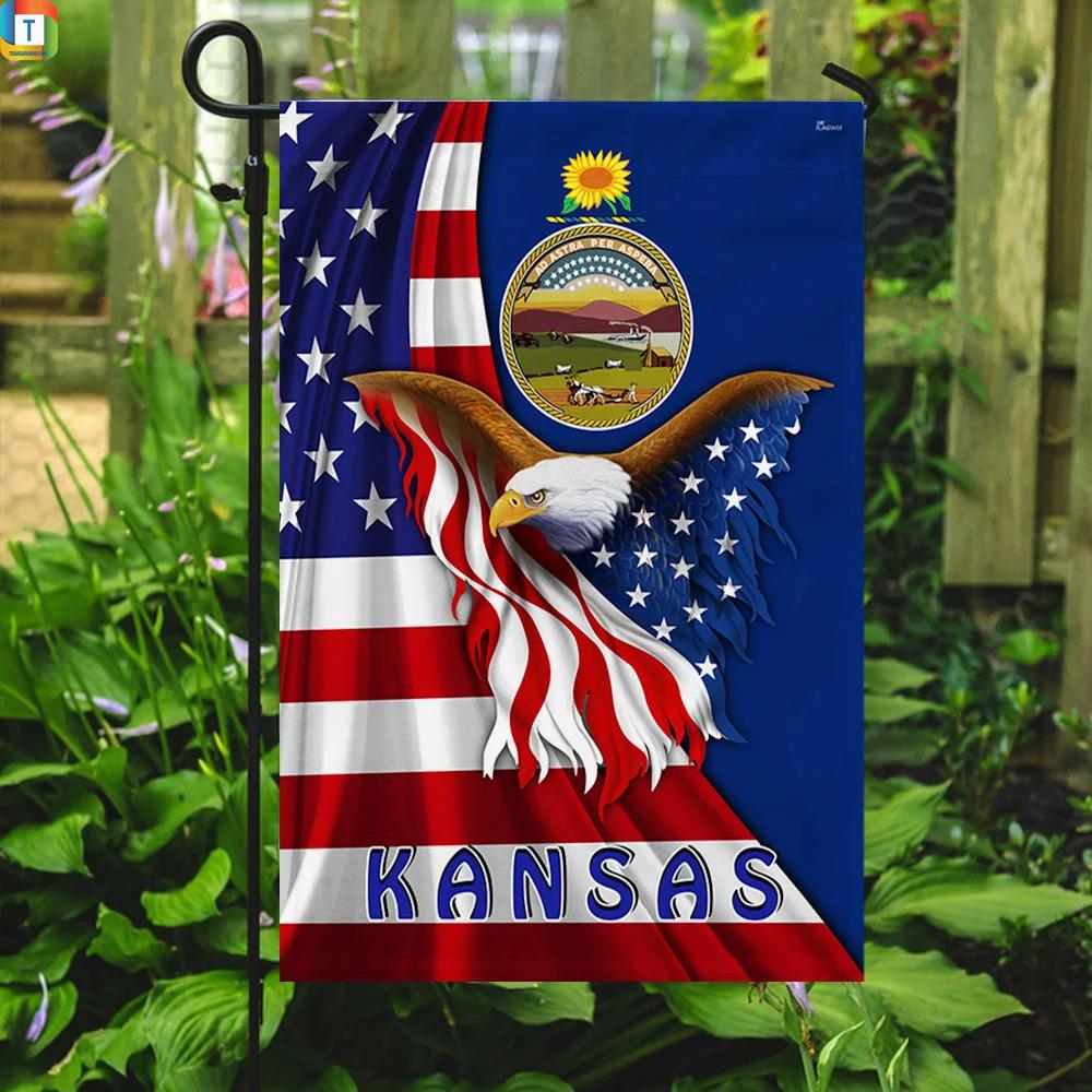 Kansas Eagle Flag 2