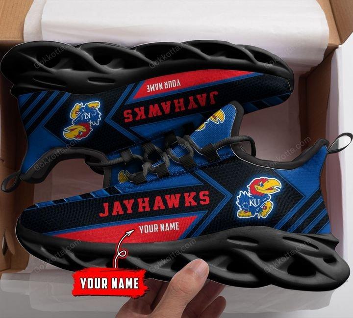 Kansas Jayhawks Personalized Max Soul Shoes