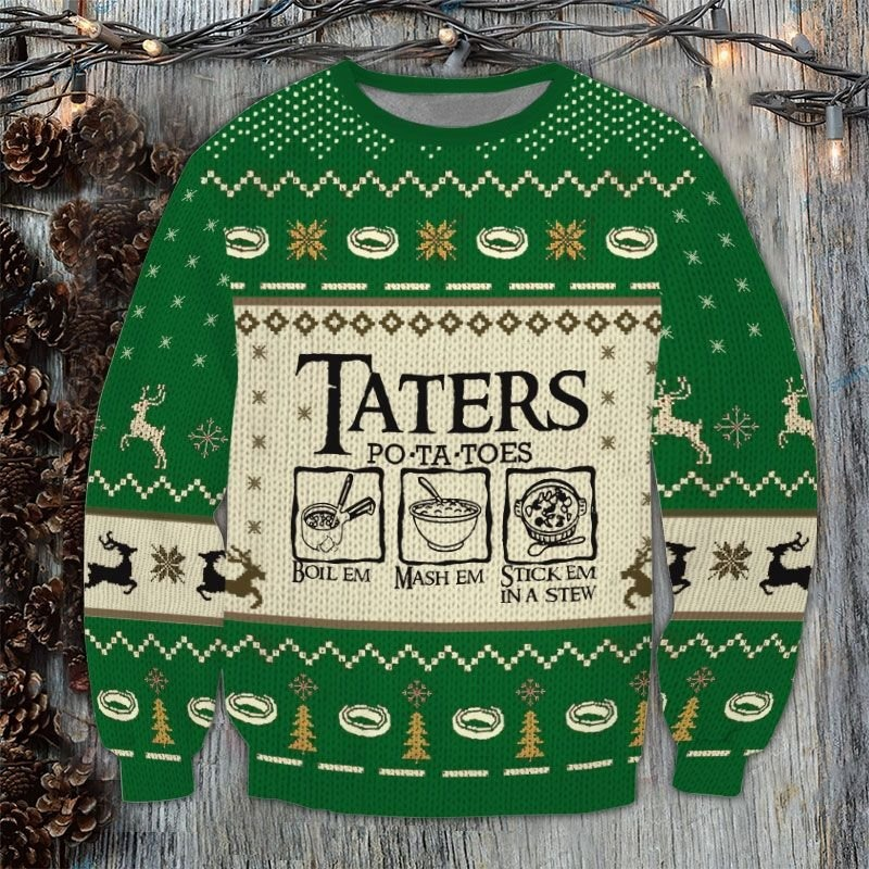 LOTR Taters Potatoes Ugly Sweater 1