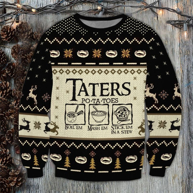 LOTR Taters Potatoes Ugly Sweater 3LOTR Taters Potatoes Ugly Sweater 3
