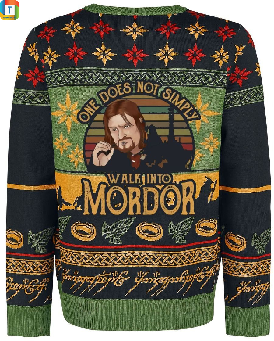 LOTR one does not simply walk into mordor ugly sweater