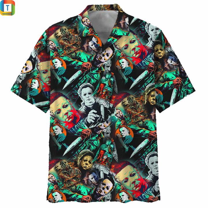 Michael myers horror film hawaiian shirt and 3d hoodie