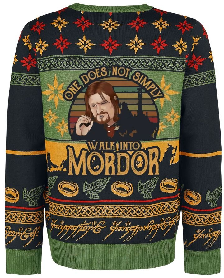 Lord Of The Ring Walking Into Mordor Ugly Christmas Sweater
