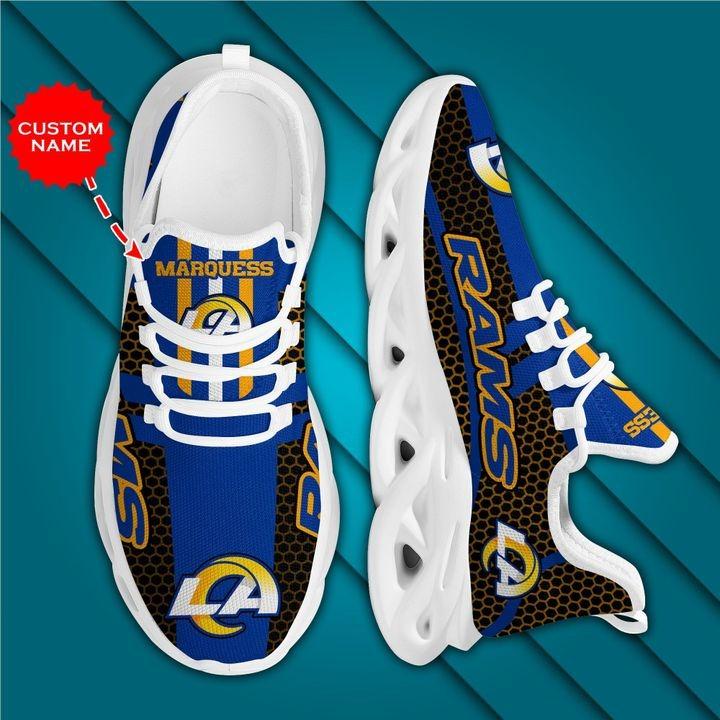 Los Angeles Rams Max Soul Shoes Luxury Custom Name
