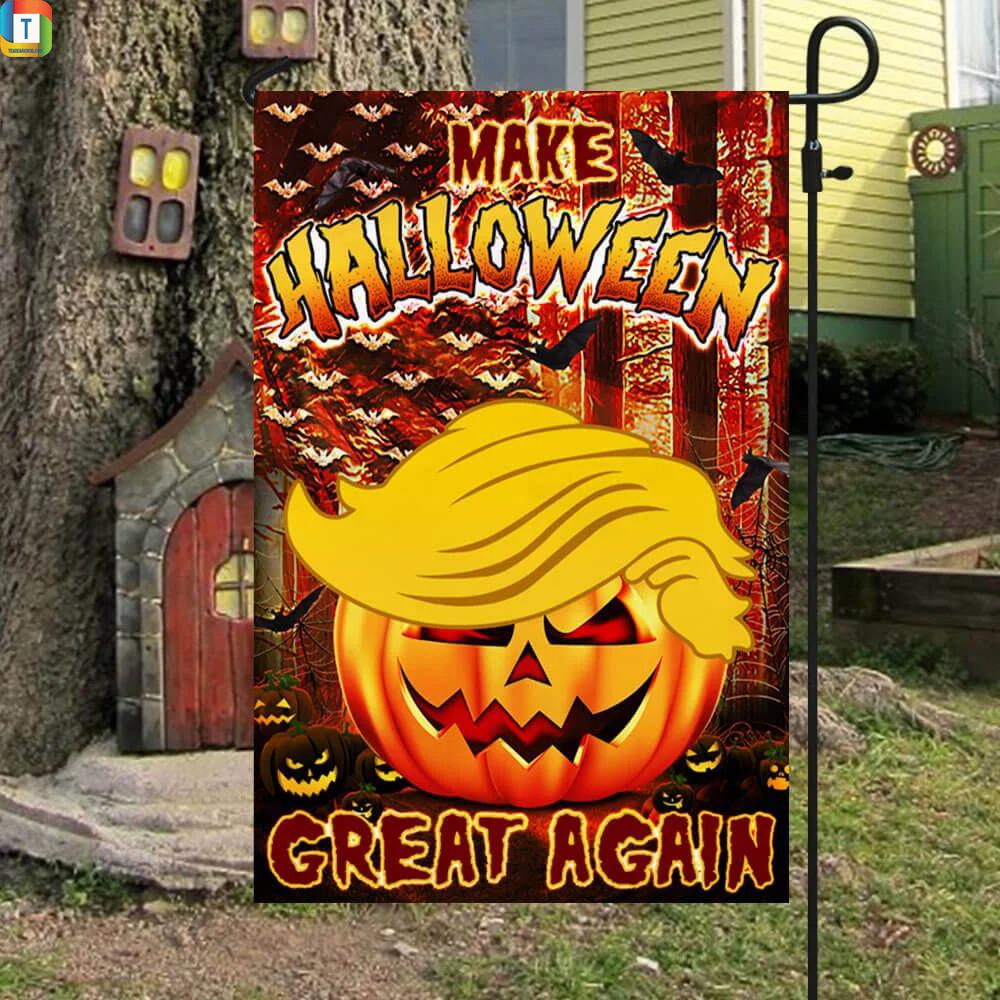 Make halloween great again Trump pumpkin flag 3