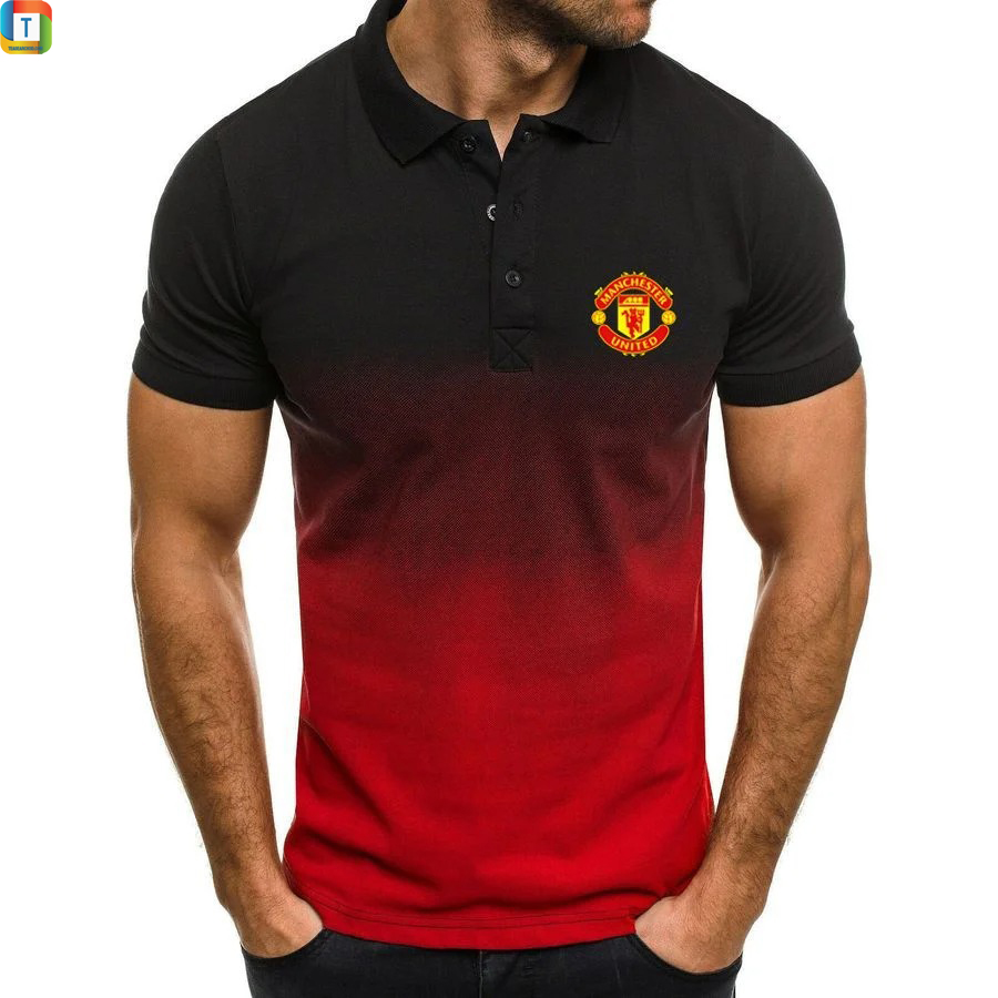 Manchester United FC gradient polo shirt
