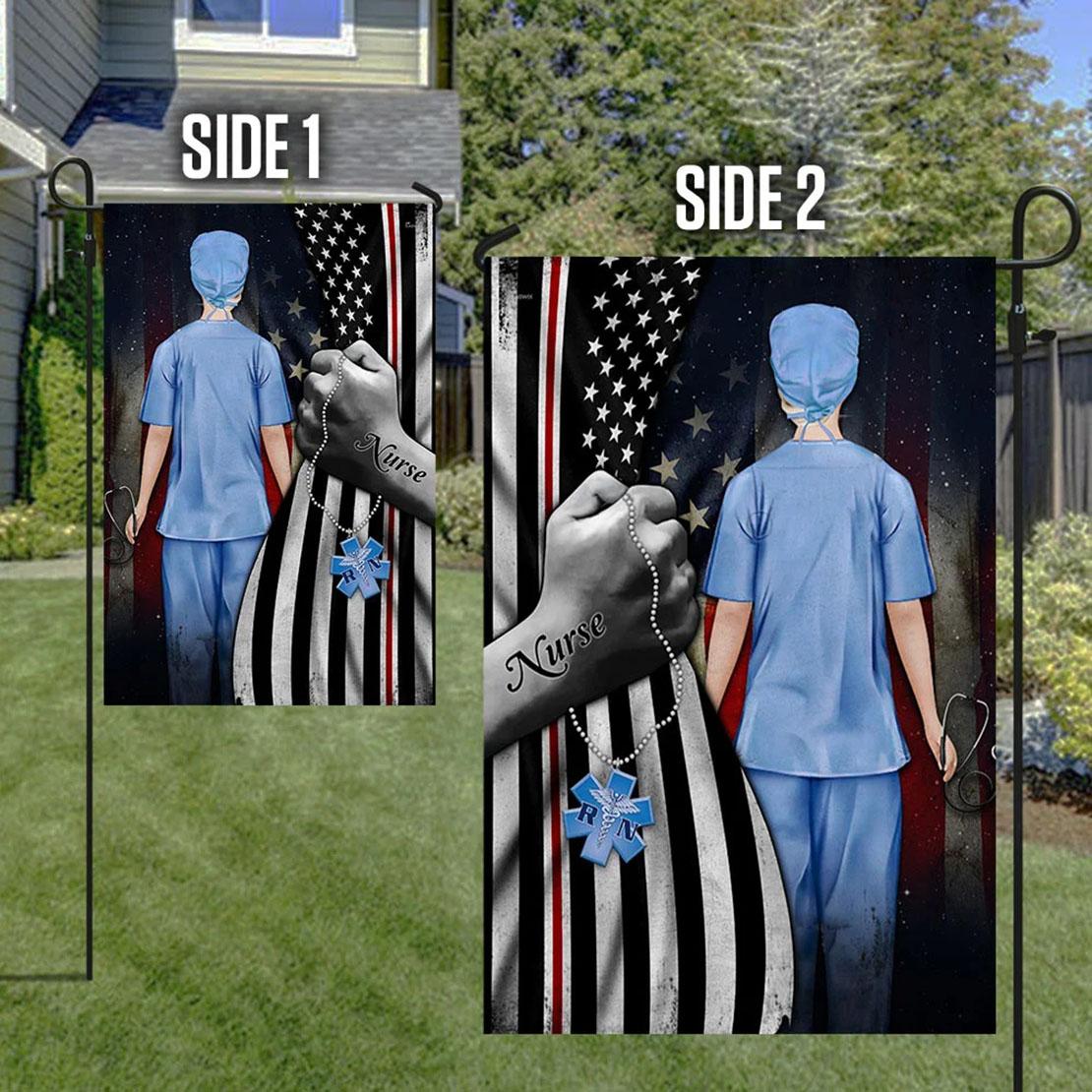Nurse American Flag
