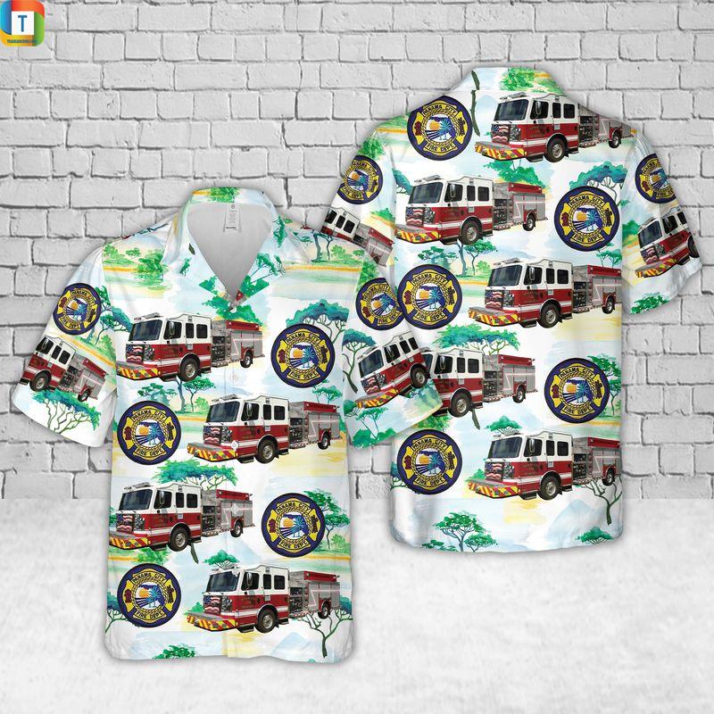 Panama City Fire Department Florida Hawaiian ShirtPanama City Fire Department Florida Hawaiian Shirt