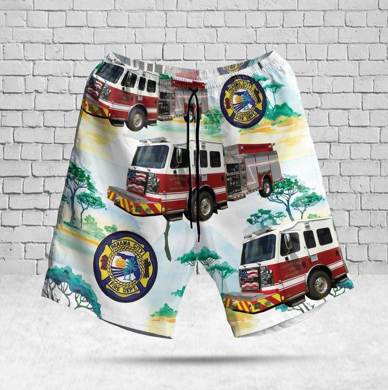 Panama City Fire Department Florida Hawaiian ShortPanama City Fire Department Florida Hawaiian Short