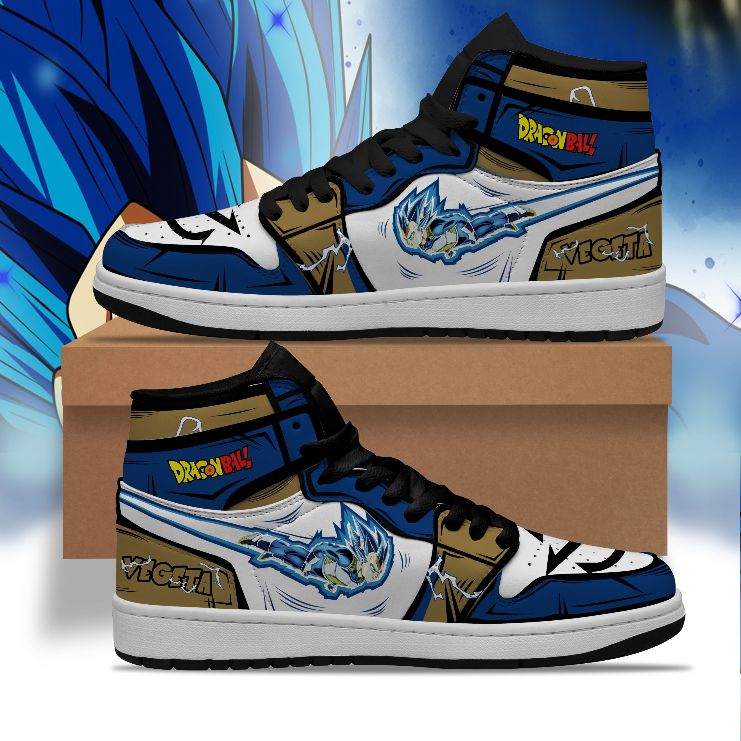 Personalized Vegeta Super Saiyan Blue JD Sneaker