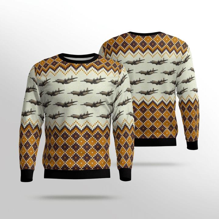 RAF C-130 Hercules 3D Ugly Christmas Sweater