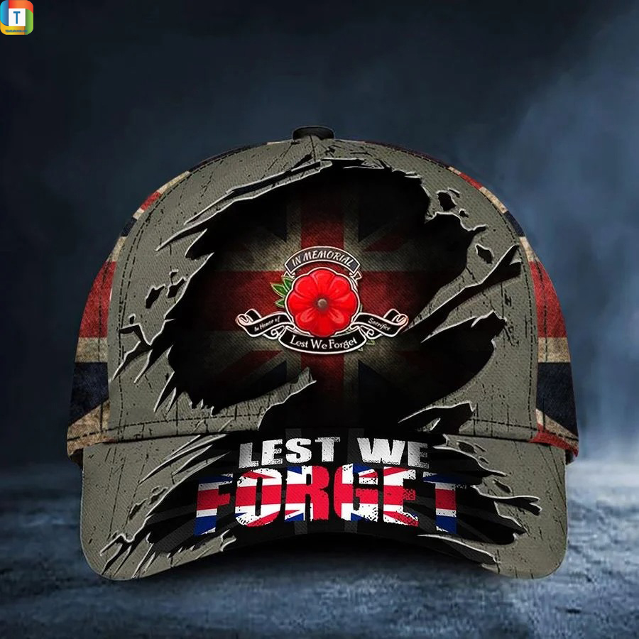 Remembrance Day Soldiers Lest We Forget Uk Memorial Flag Hat