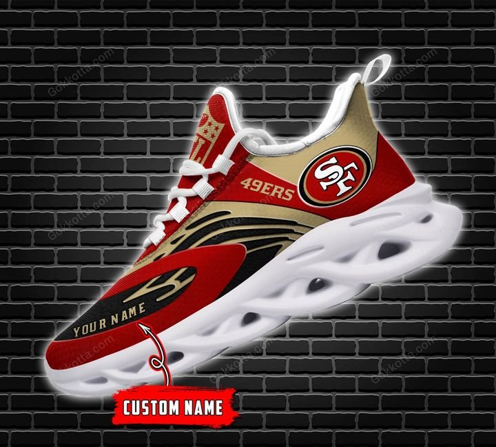 San Francisco 49ers Personalized Max Soul Shoes