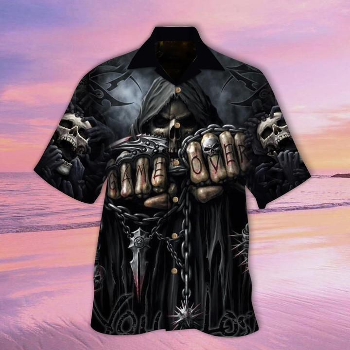 Skull Game Over Hawaiian Shirt
