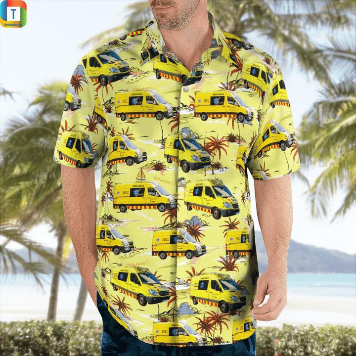 Spain catalonia ambulance hawaiian shirt 1