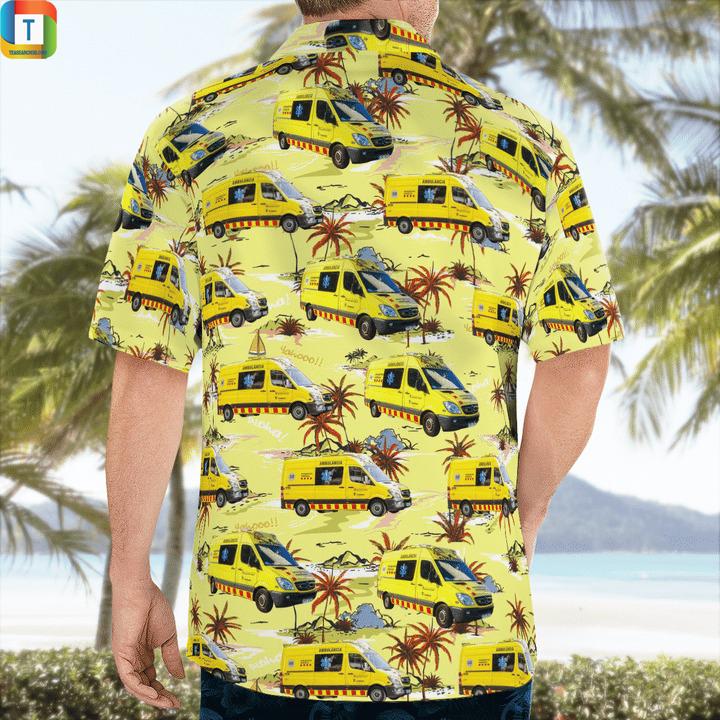 Spain catalonia ambulance hawaiian shirt 2