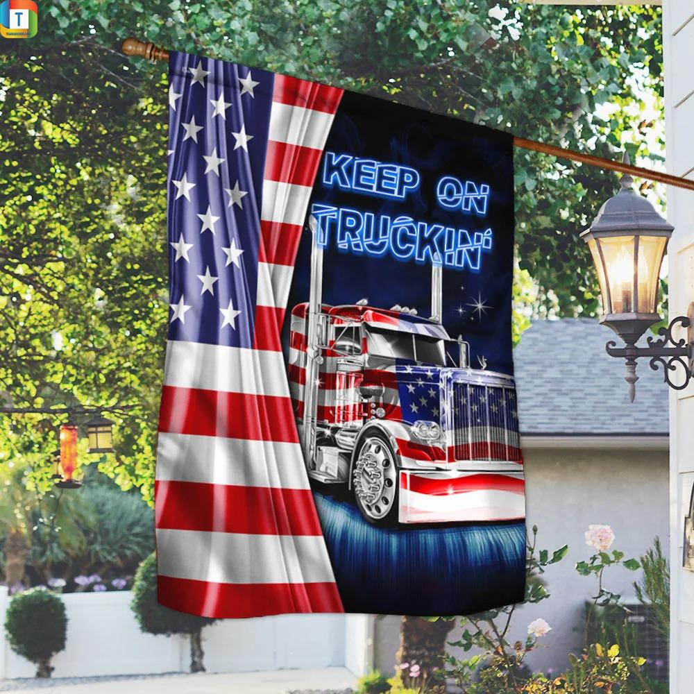 Truck Keep On Truckin American Flag 1