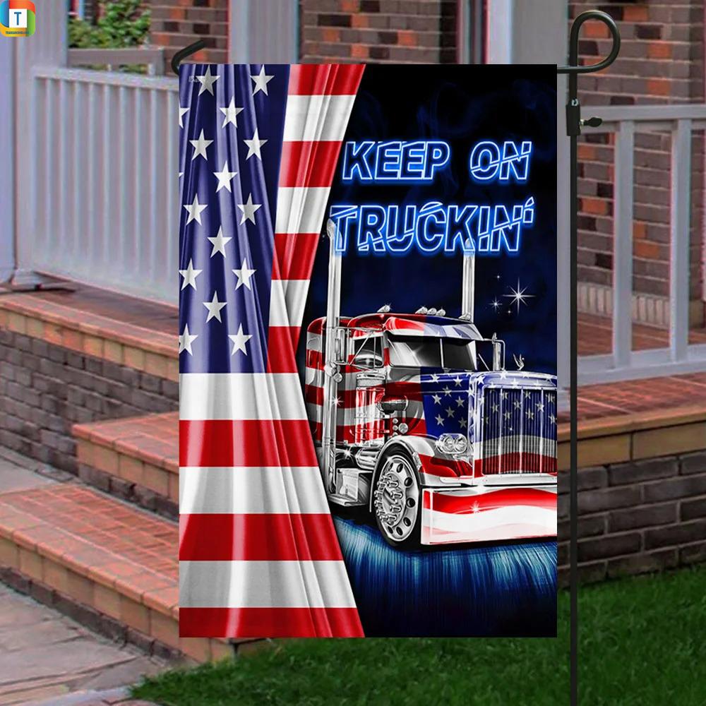 Truck Keep On Truckin American Flag 2