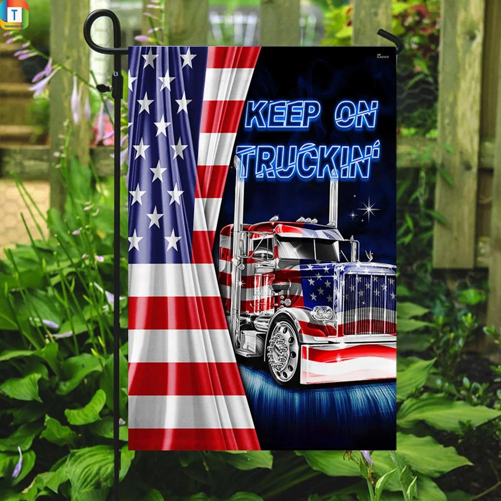 Truck Keep On Truckin American Flag 3