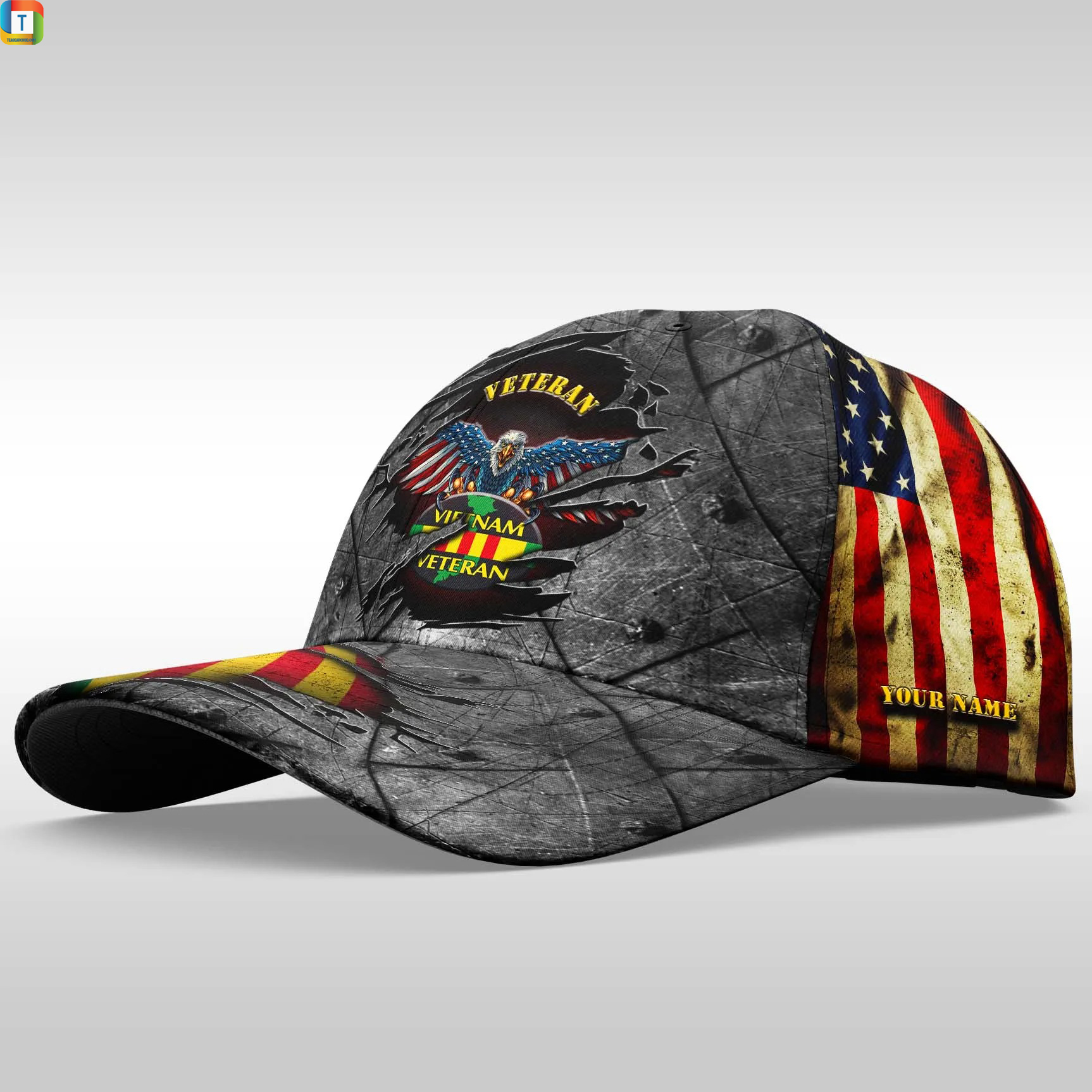 Vietnam Veteran Cap Custom Name 1
