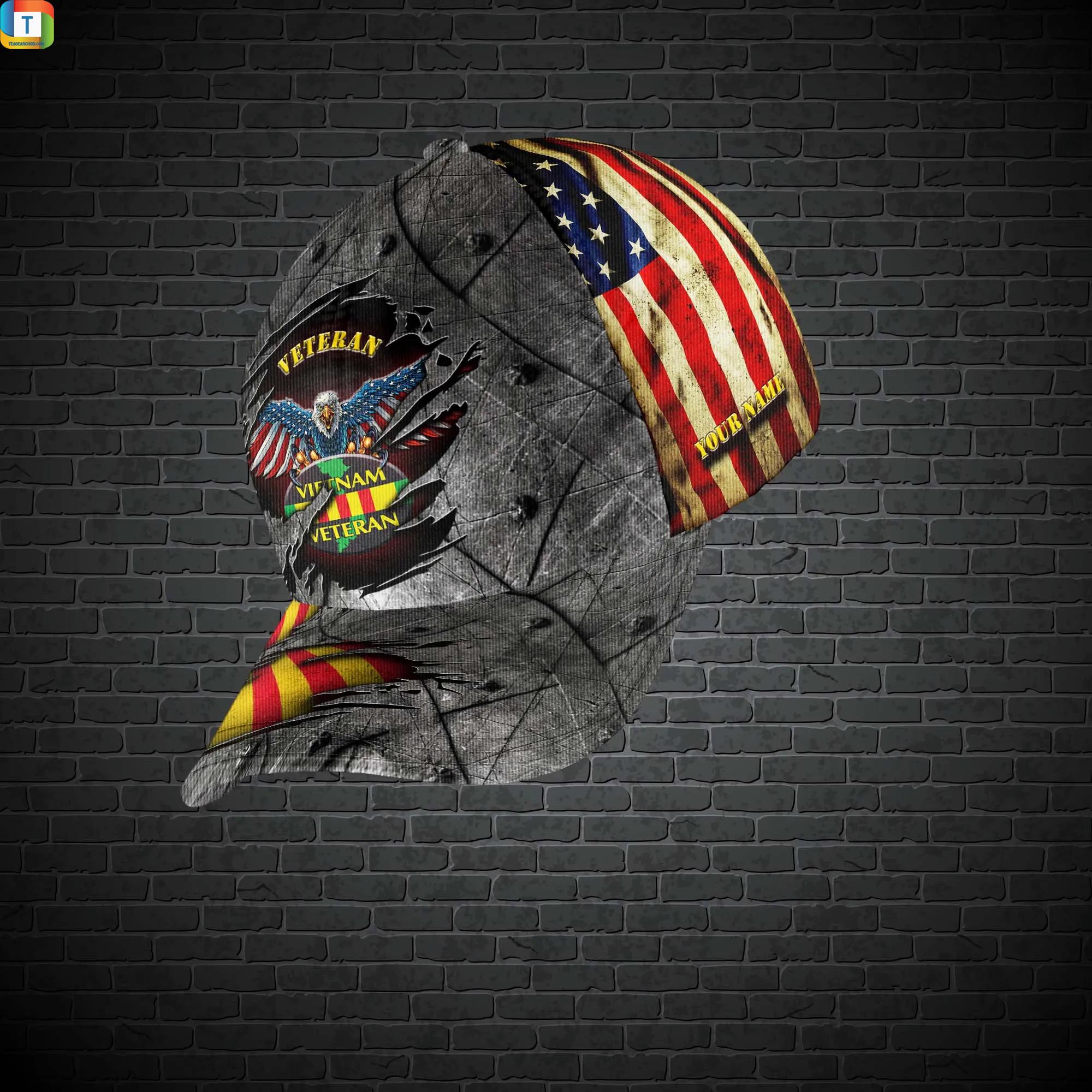 Vietnam Veteran Cap Custom Name 2