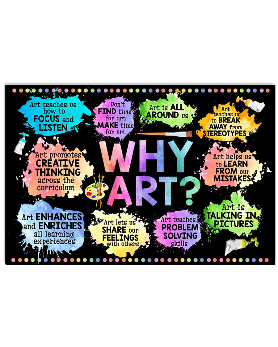 Why Art Welcome To Art Classroom Horizontal Poster 1
