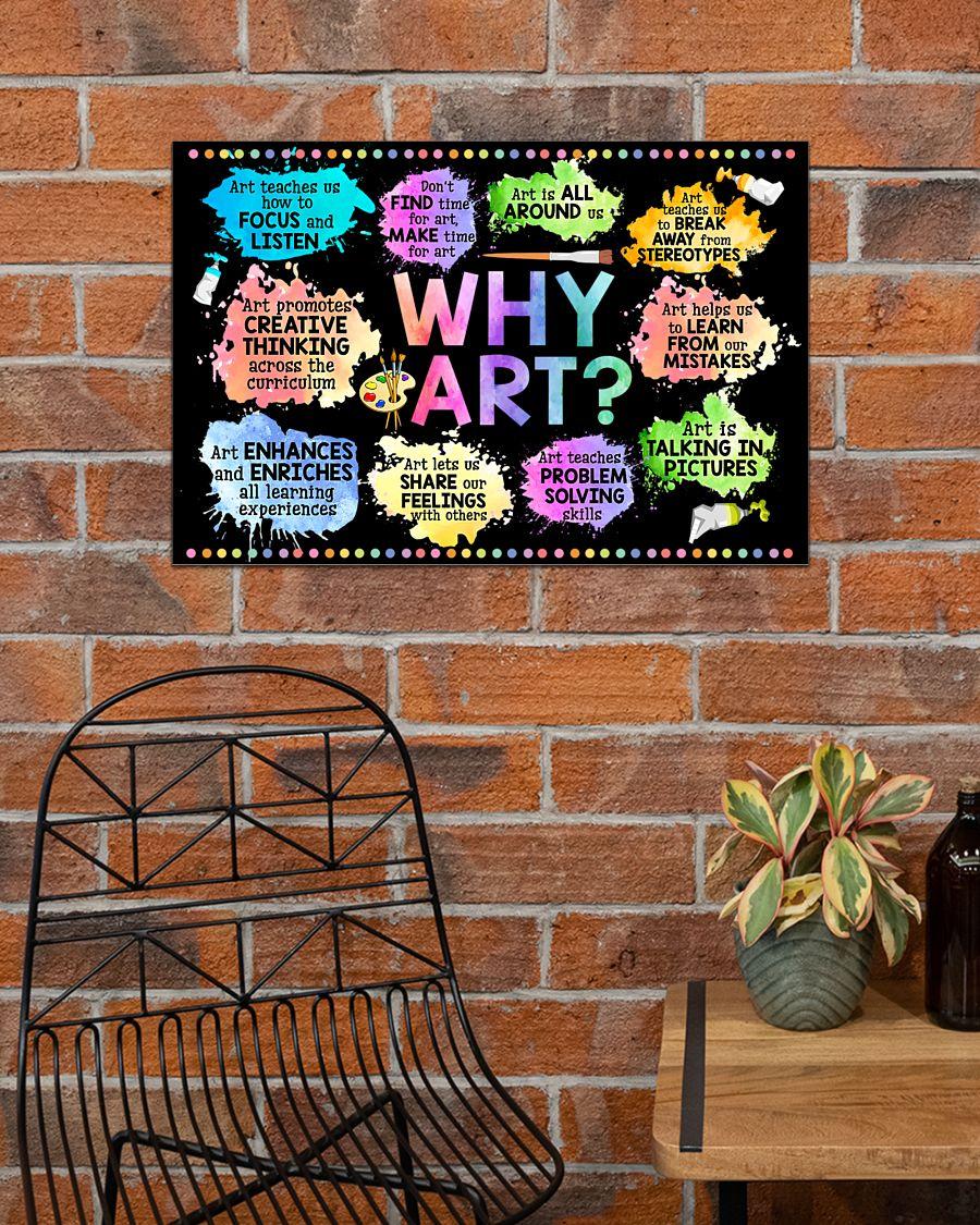 Why Art Welcome To Art Classroom Horizontal Poster 2Why Art Welcome To Art Classroom Horizontal Poster 2