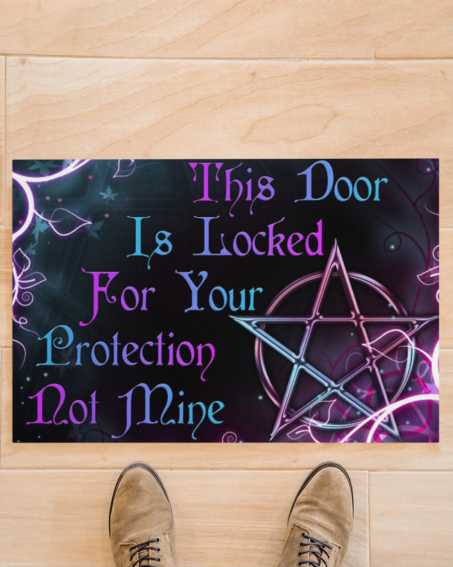 Witch This Door Is Locked For Your Protection Doormat