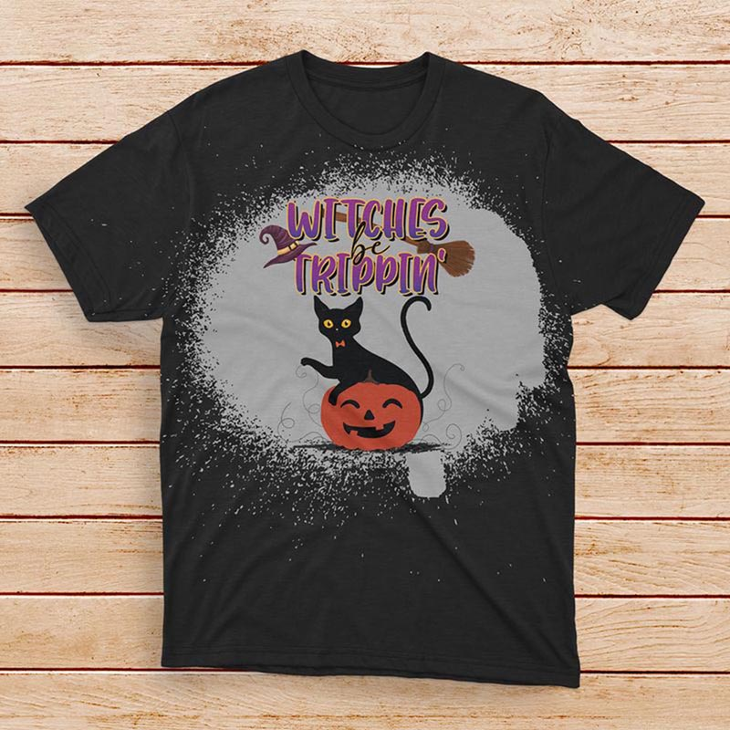 Witches Be Trippin Bleached T-shirt