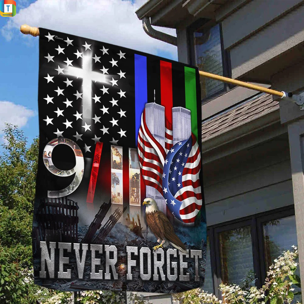 Police military and fire thin line 9 11 flag 1