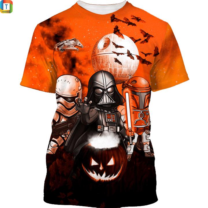 Star wars darth vader boba fett stormtrooper halloween night shirt