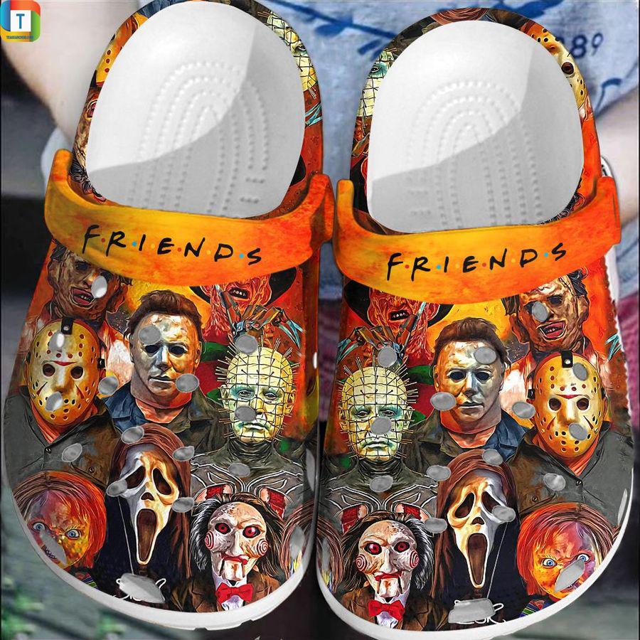 Horror characters friends tv show halloween crocs crocband clog shoes