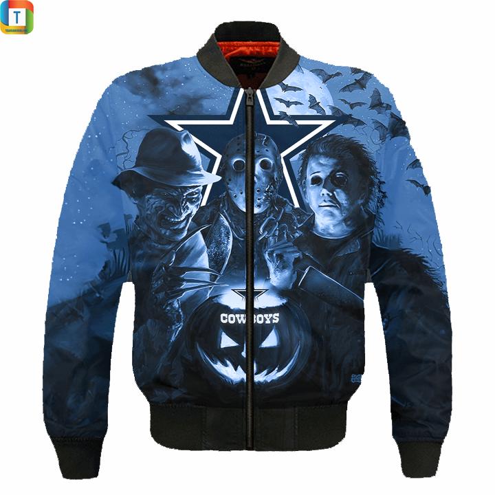 Dallas cowboys horror night hawaiian shirt and 3d hoodie 5