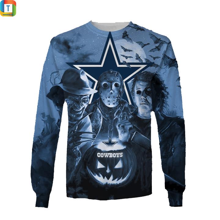 Dallas cowboys horror night hawaiian shirt and 3d hoodie 3