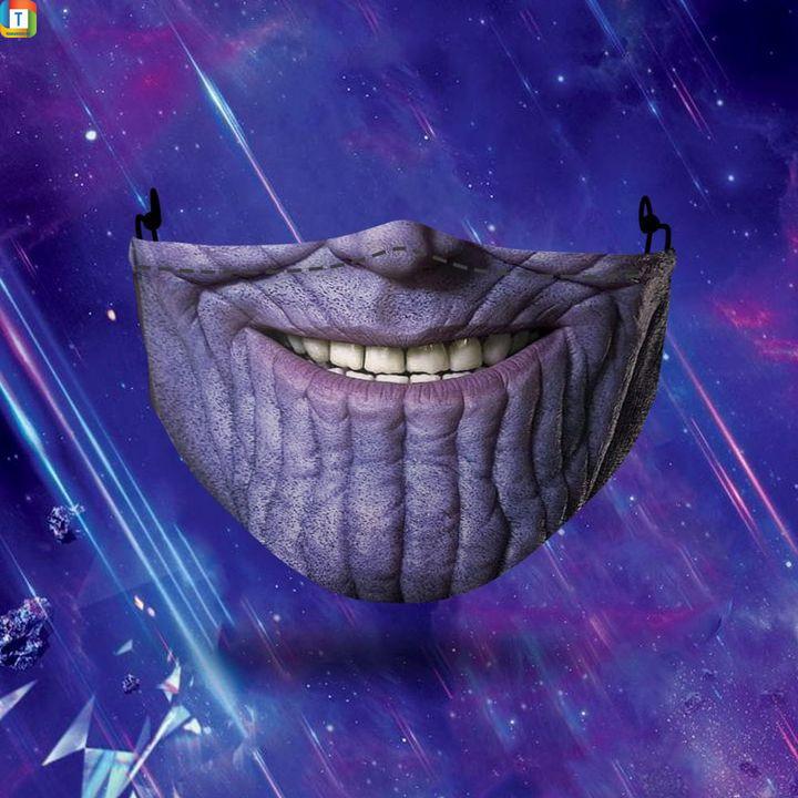 Thanos halloween 3d face mask face cover