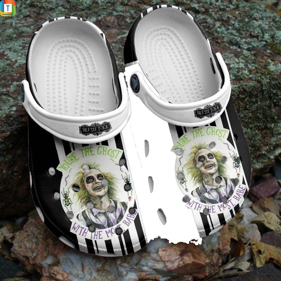 Beetlejuice you're the ghost halloween crocs crocband shoes