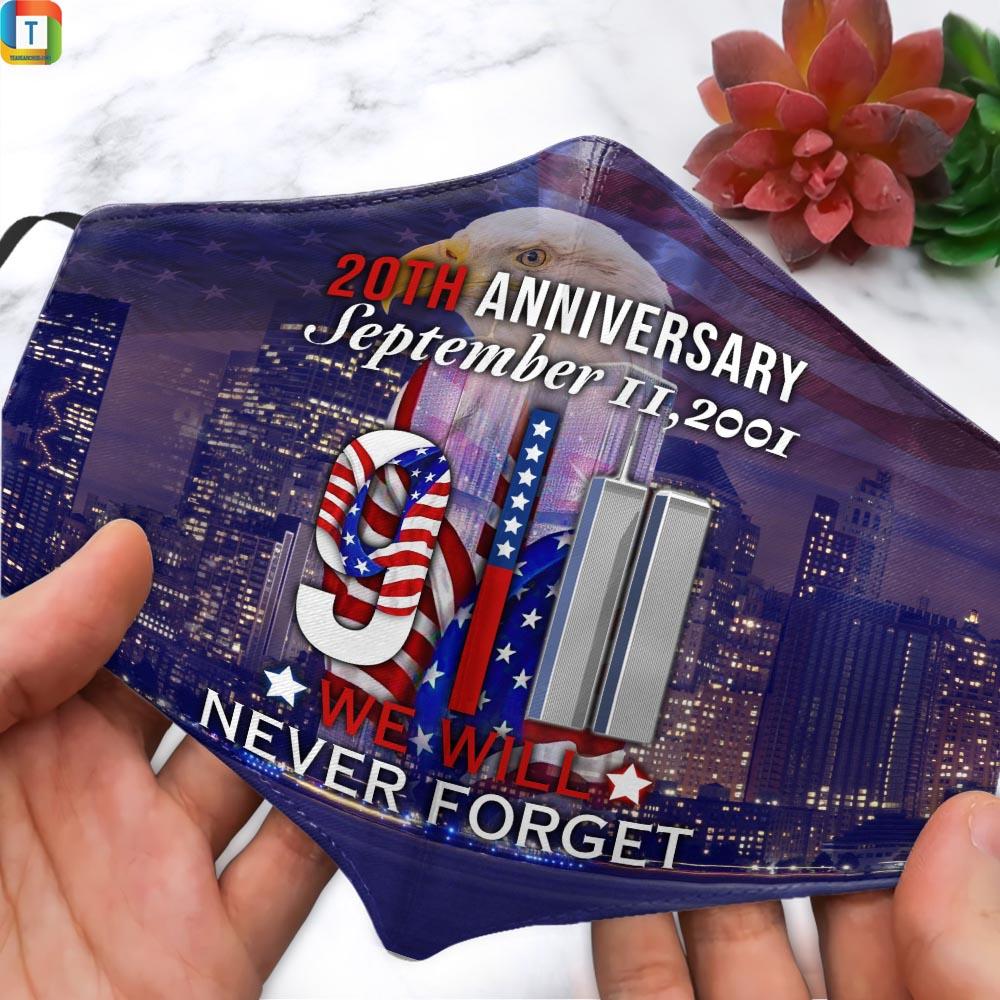 9-11 Memorial 20th Anniversary September Face Mask