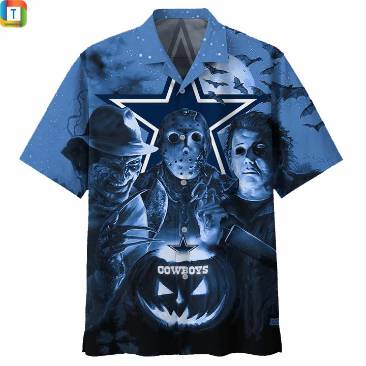 Dallas cowboys horror night hawaiian shirt and 3d hoodie