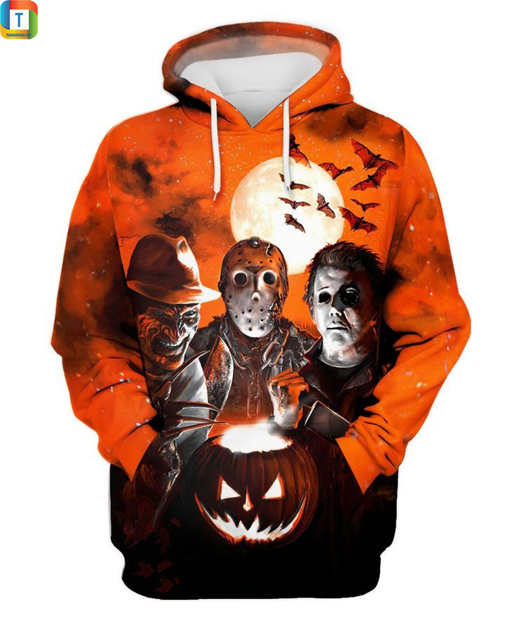 Michael Myers Freddy Krueger Jason Voorhees Horror Night 3d hoodie