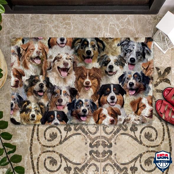 A Bunch Of Australian Shepherds Doormat