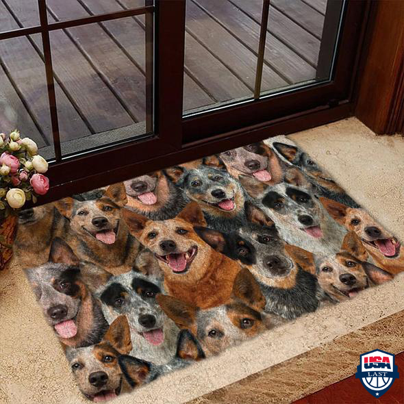 A Bunch Of Australian Cattles Doormat