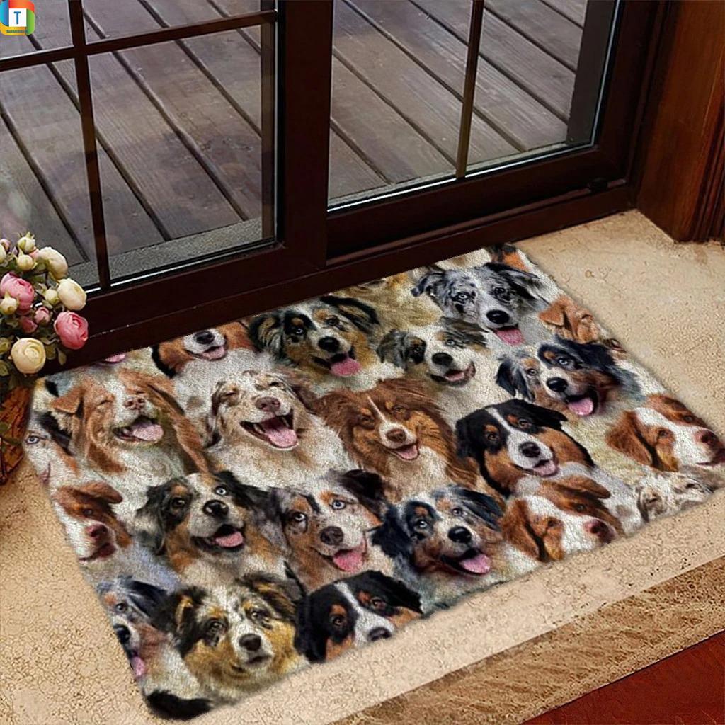 A Bunch Of Australian Shepherds Doormat 1